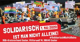 Der DGB Goslar am 1. Mai auf der Straße