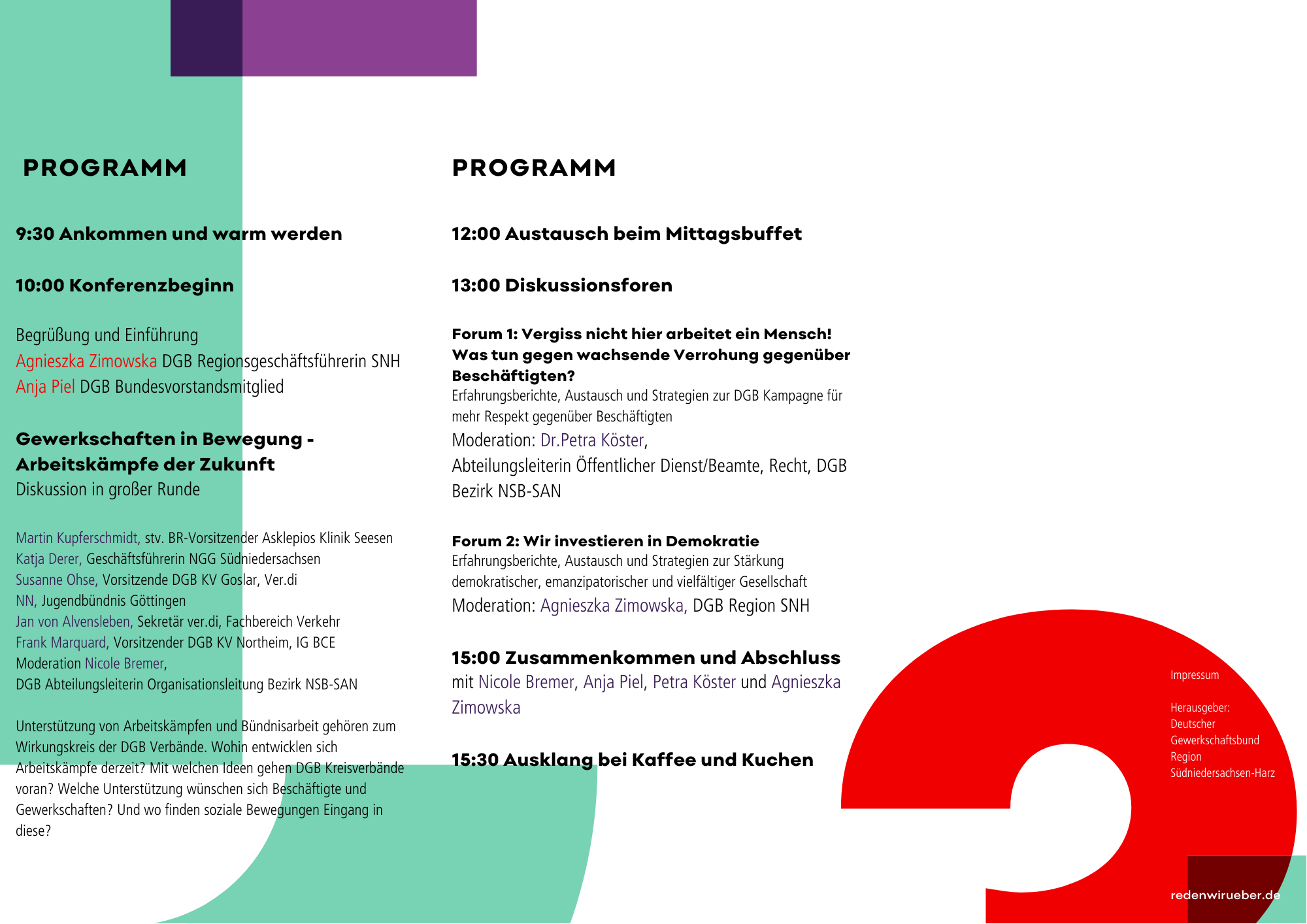 Programm der Tagung
