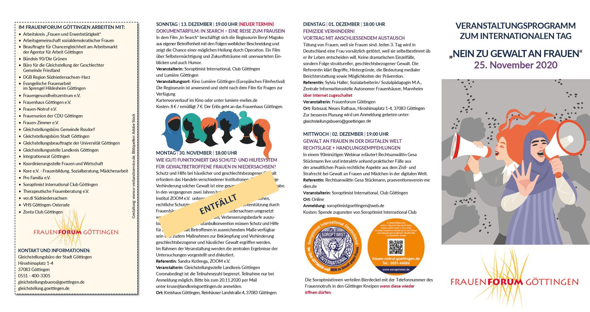 Programm-Flyer, Seite 1