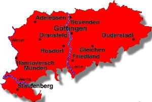 Karte Kreis Göttingen