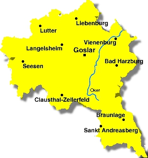 Karte Kreis Goslar